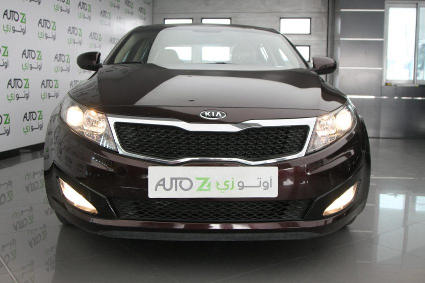 صورة امامية لسيارة كيا اوبتيما مستعملة من اوتو زي قطر